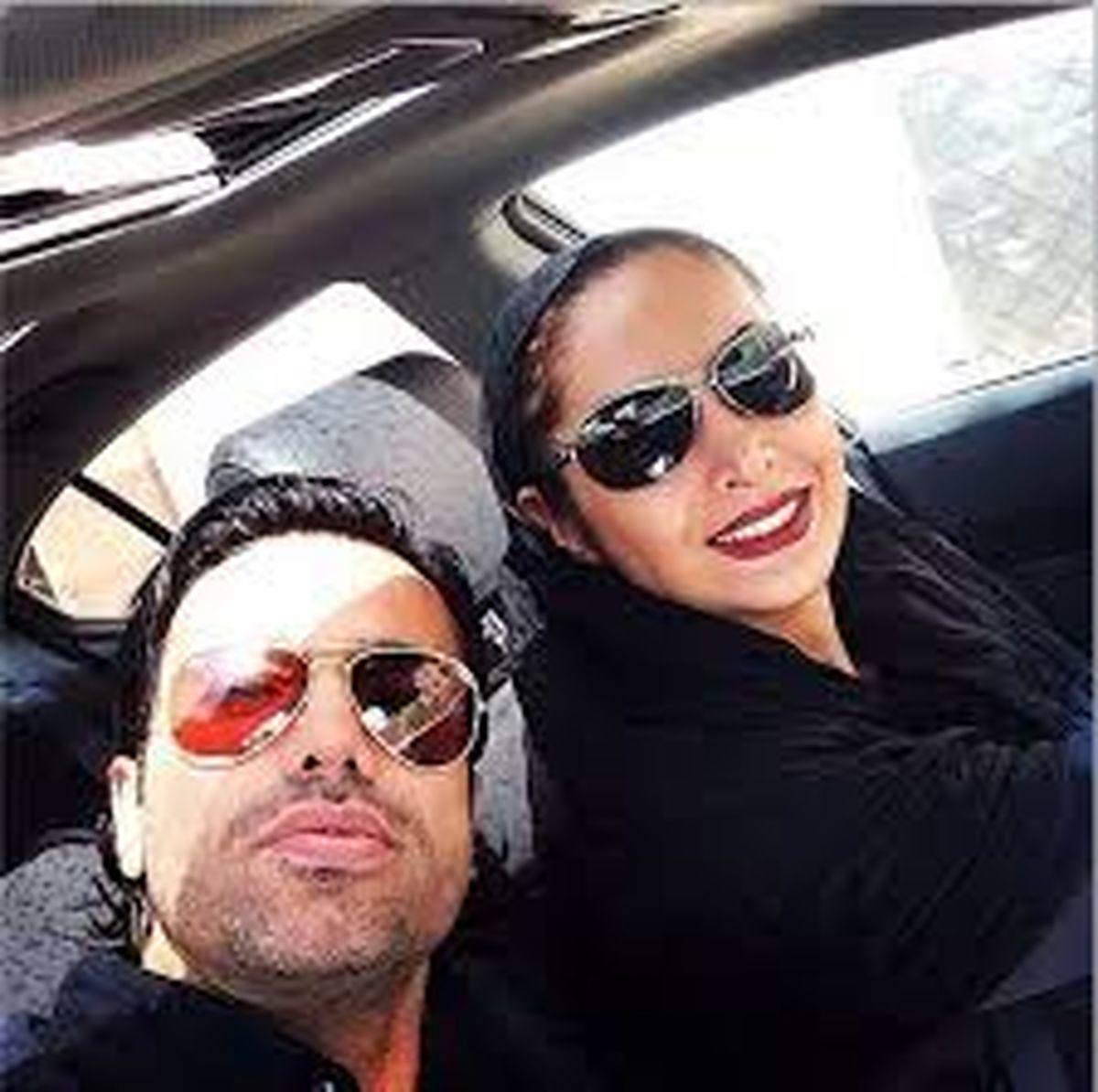 علیرضا نیکبخت و همسرش در حال خوش گذرانی + عکس