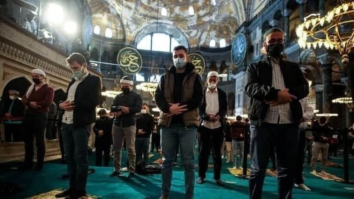 برگزاری نماز عید فطر در مسجد ایاصوفیه بعد از 87 سال