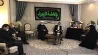 حضور رئیس دفتر روحانی در منزل مرحوم شهیدی