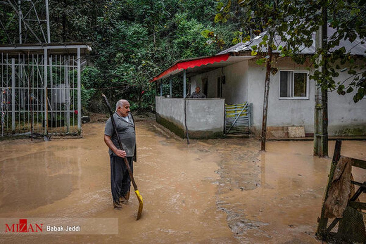 تصاویر   خسارتی که رانش زمین و سیلاب به روستاهای شفت زد