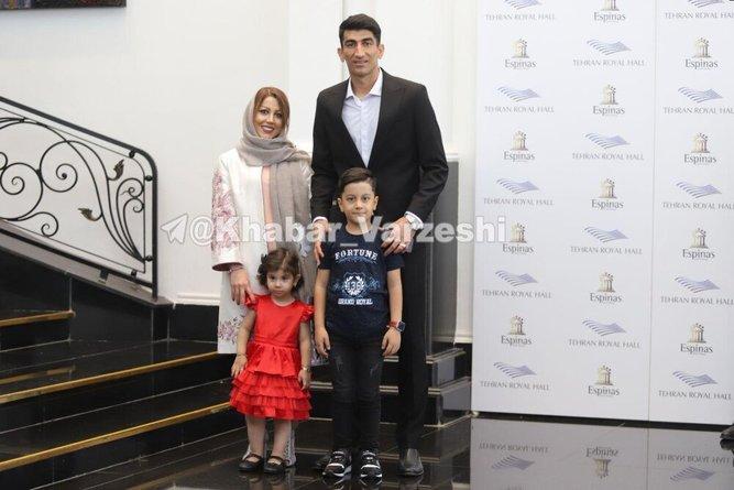 بیرانوند و خانواده در مراسم بهترینهای لیگ برتر