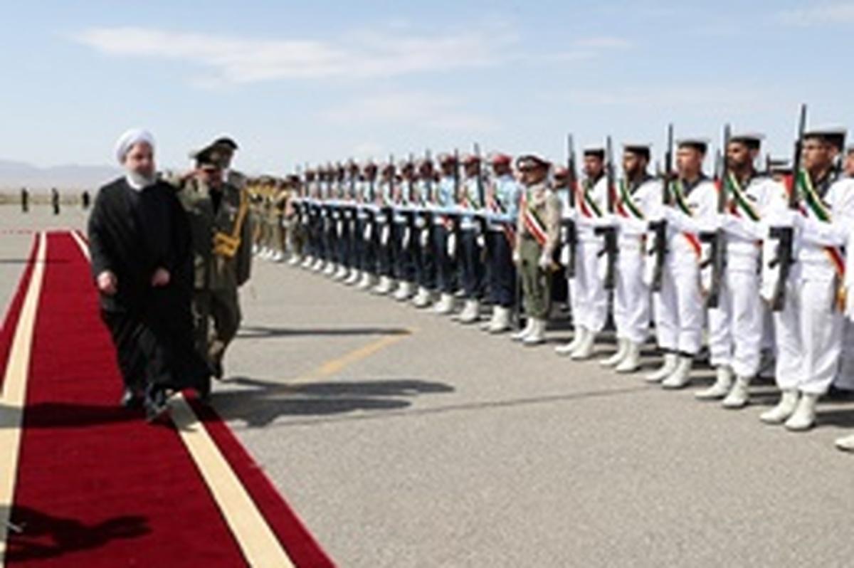 ورود رئیسجمهوری به فرودگاه سبزوار