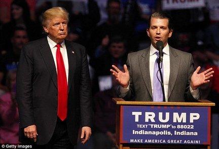 """پسر ترامپ اظهارات پدرش را ماستمالی کرد؛ """"این حرفها بین مردها عادی است!"""