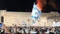 خوشحالی صهیونیست ها از آتش گرفتن مسجد الاقصی + ویدئو