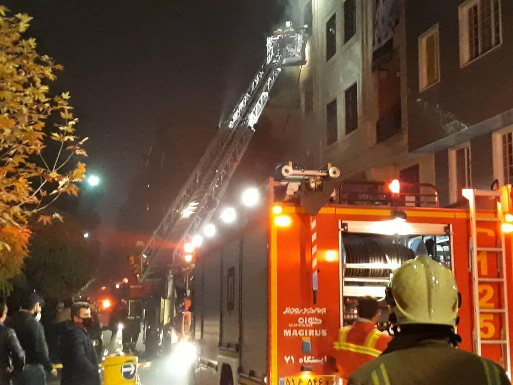 ۱۰ نفر از حادثه آتشسوزی مجیدیه تهران نجات یافتند