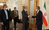 جشن تولد وزارت خارجه دولت رئیسی برای انریکه مورا، معاون مسئول سیاست خارجی اتحادیه اروپا در تهران