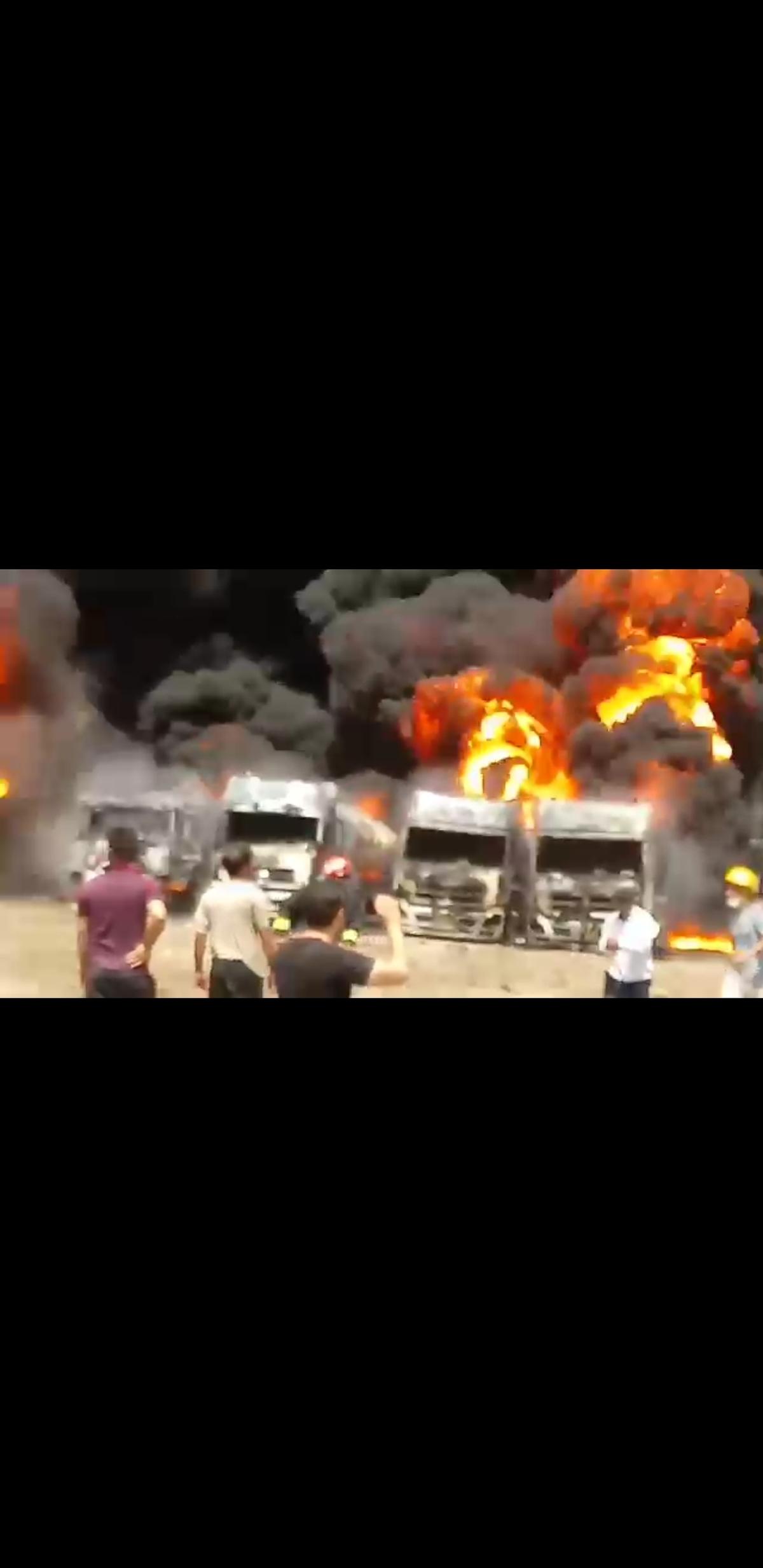 آتش سوزی گسترده در دولت آباد کرمانشاه + ویدئو