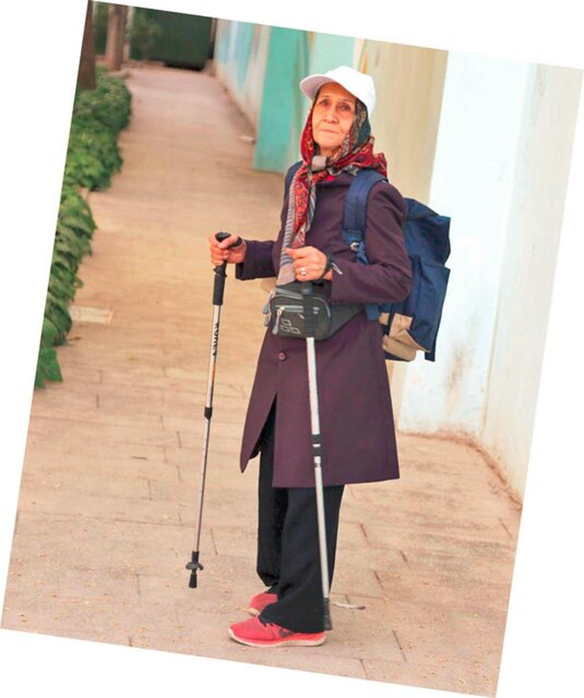 بانوی ۷۶ ساله تهرانی، سالمند قهرمان