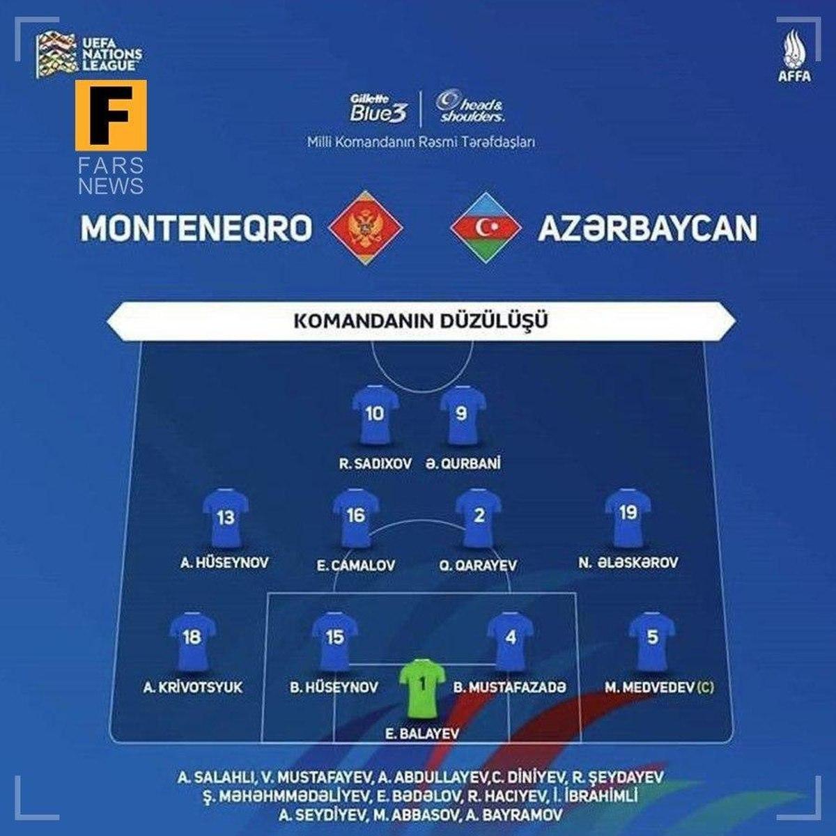 حضور قربانی در ترکیب تیم ملی آذربایجان