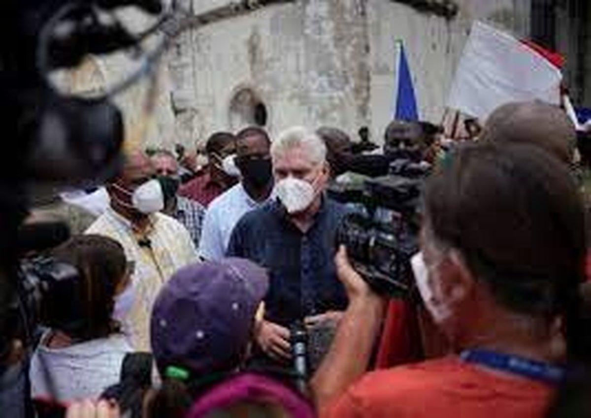 بایدن: نظام کوبا به صدای ملتش گوش دهد