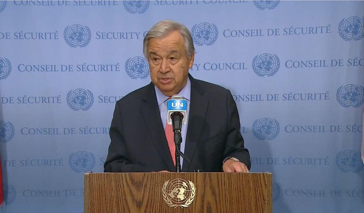 ابراز امیدواری دبیر کل سازمان ملل برای تشکیل دولت فراگیر در افغانستان