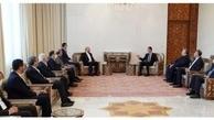 جزئیات دیدار رئیس مجلس با بشار اسد +عکس