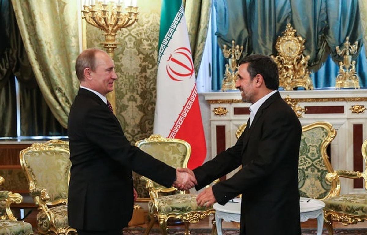 احمدی نژاد به پوتین هم نامه نوشت