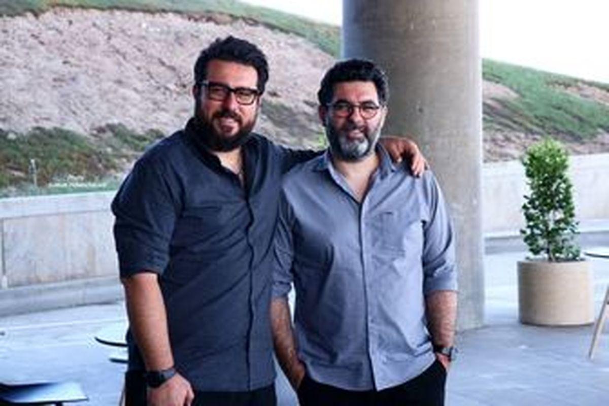 چهره شاد برادران کیایی در کنار مهران احمدی+ عکس