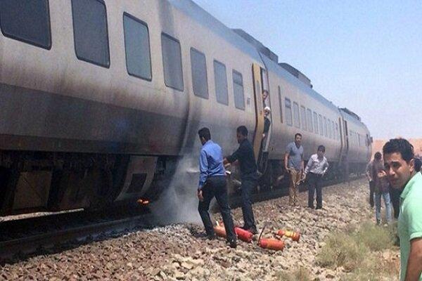 آتش سوزی در قطار یزد – تهران