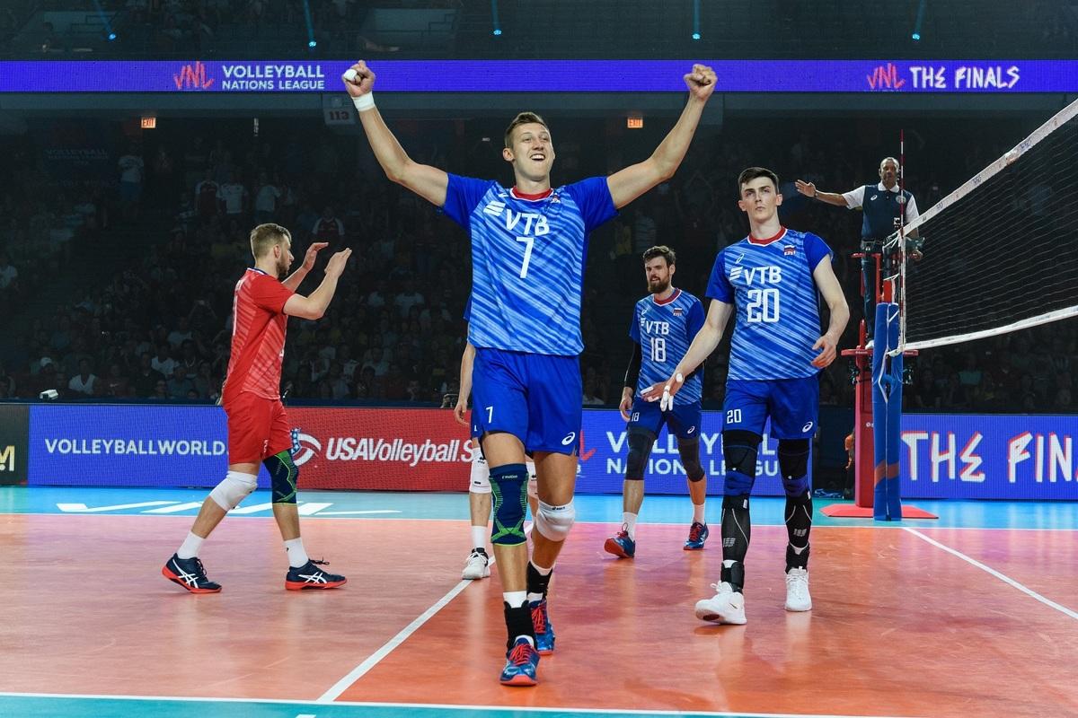 روسیه فاتح لیگ ملتهای والیبال 2019