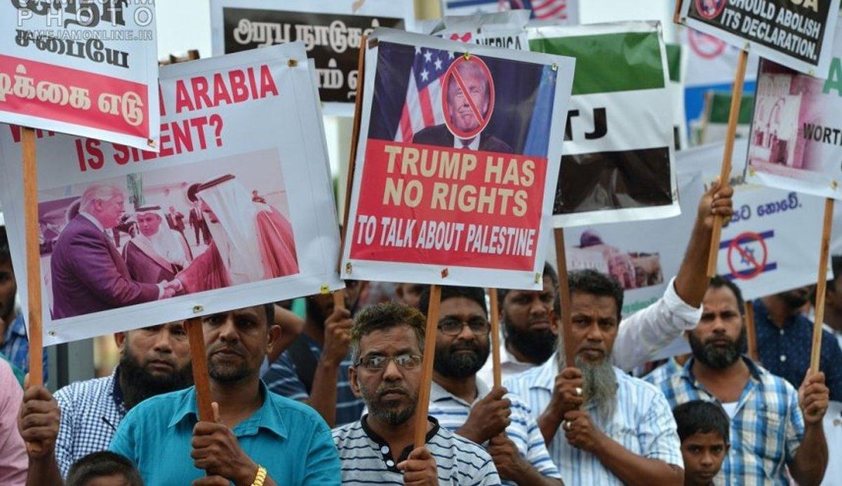 اعتراضات گسترده مسلمانان سریلانکا و شیلی نسبت به اعلام پایتخت جدید رژیم صهیونیستی