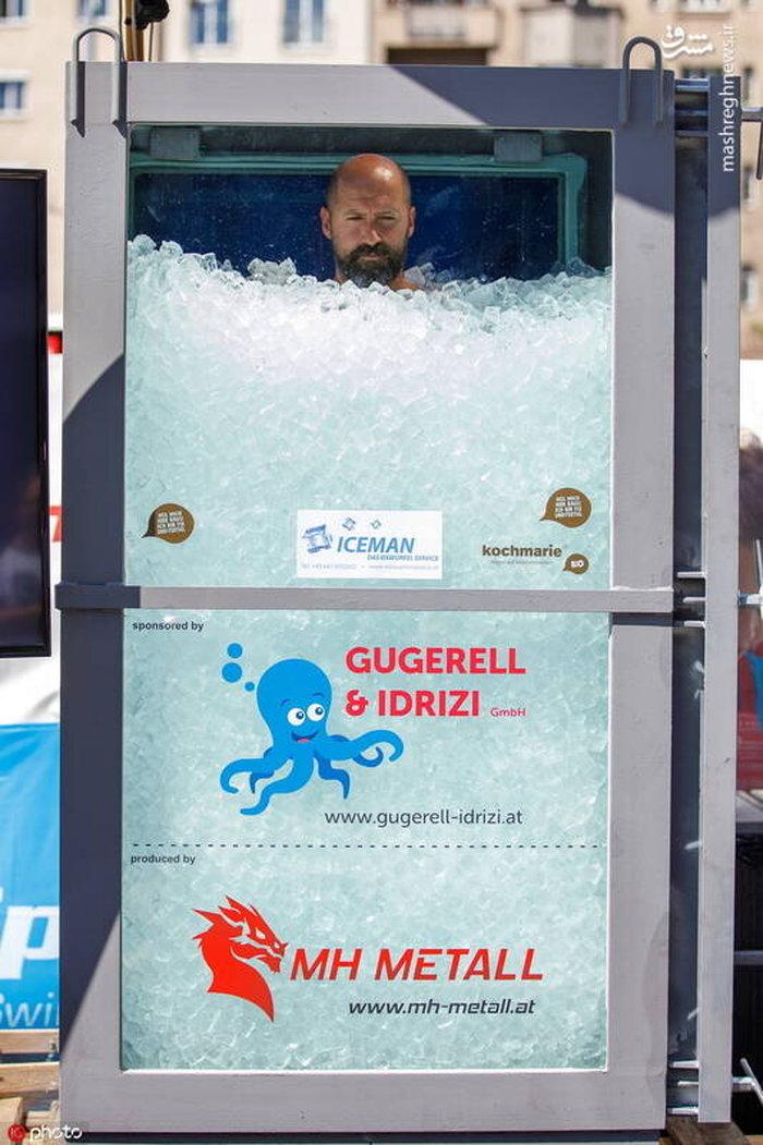 مردی که ۲ ساعت در جعبه یخ ماند