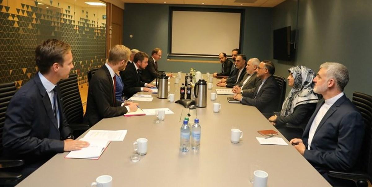 وزیر خارجه ایران با وزیر صنعت، تجارت و شیلات نروژ ملاقات کرد