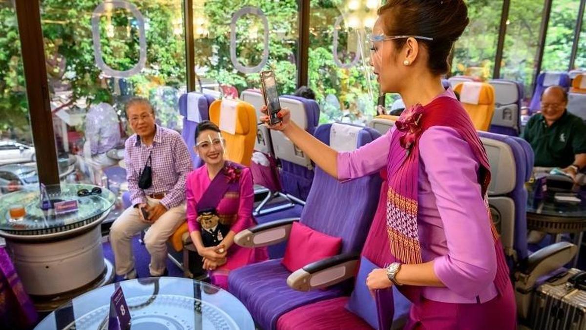 کافه هواپیما  |  راه اندازی رستوران غذای هواپیما در تایلند