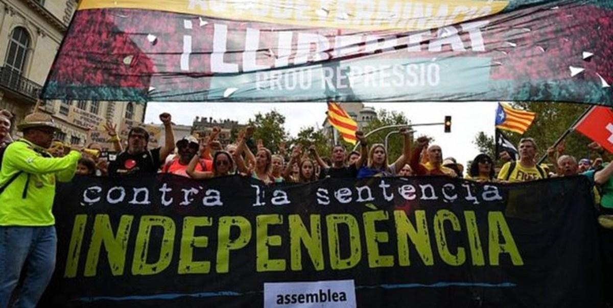 تظاهرات و اعتصاب بارسلون را به حالت فلج درآورد