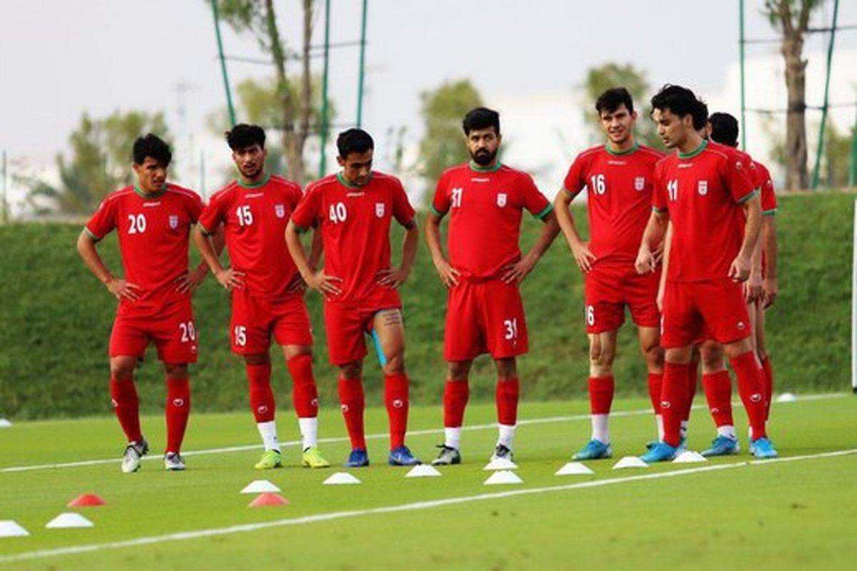 آخرین تمرین تیم امید پیش از دیدار برابر قطر