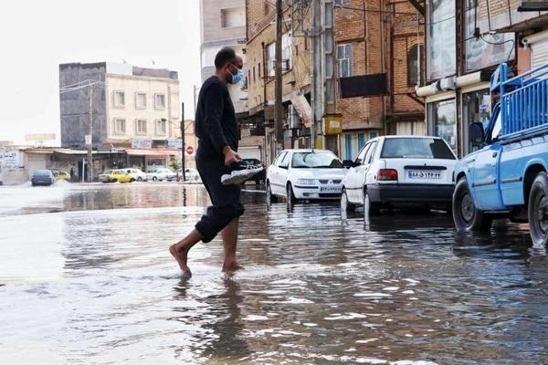 خوزستان زیر آب | ورود فاضلاب به منازل | خطر فرو ریختن خانههای مناطق حاشیهنشین