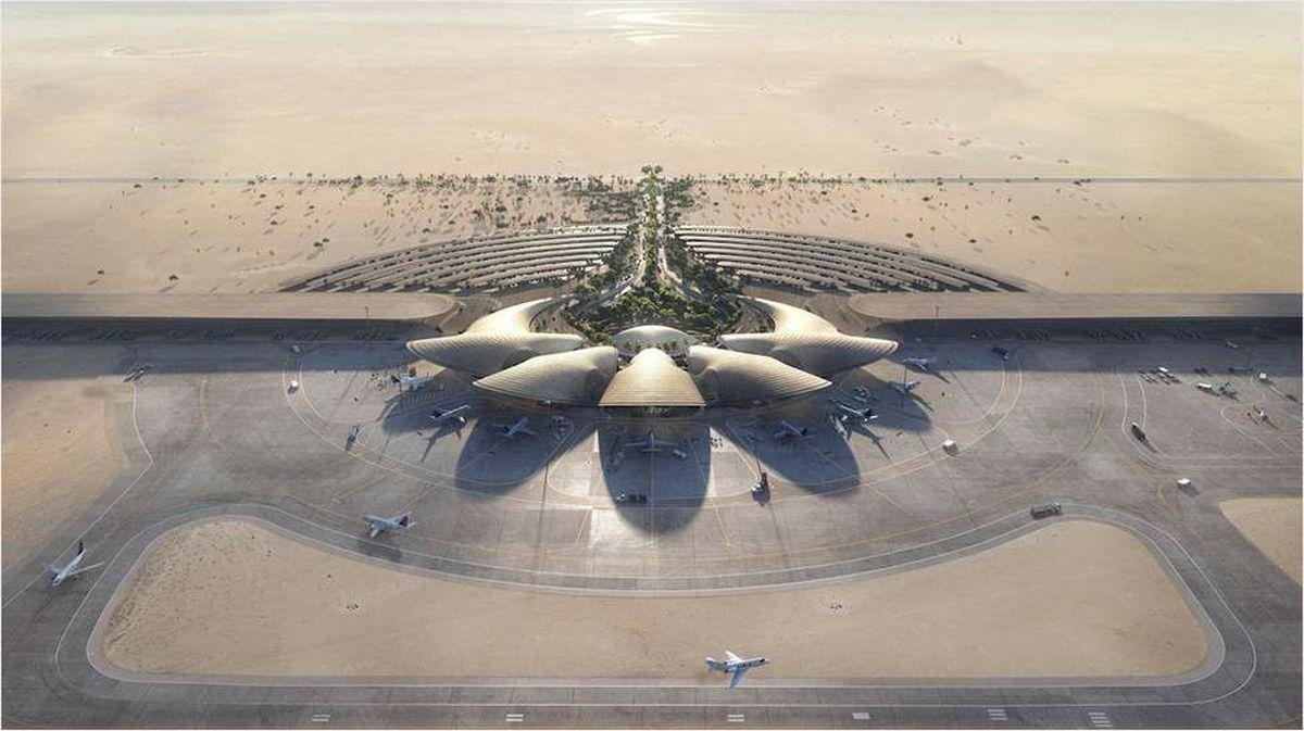 طراحی فرودگاه جدید عربستان با طرحی از تپههای شنی