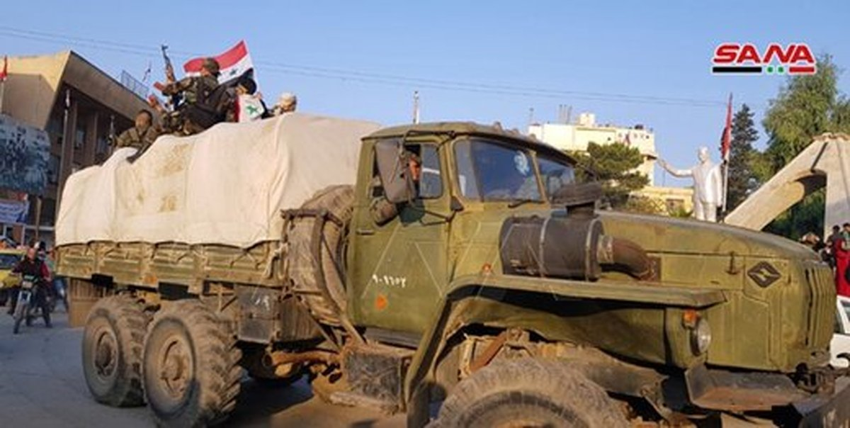 ورود نیروهای ارتش سوریه به رقه و حسکه