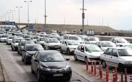 ترافیک سنگین در جادههای تهران- شمال