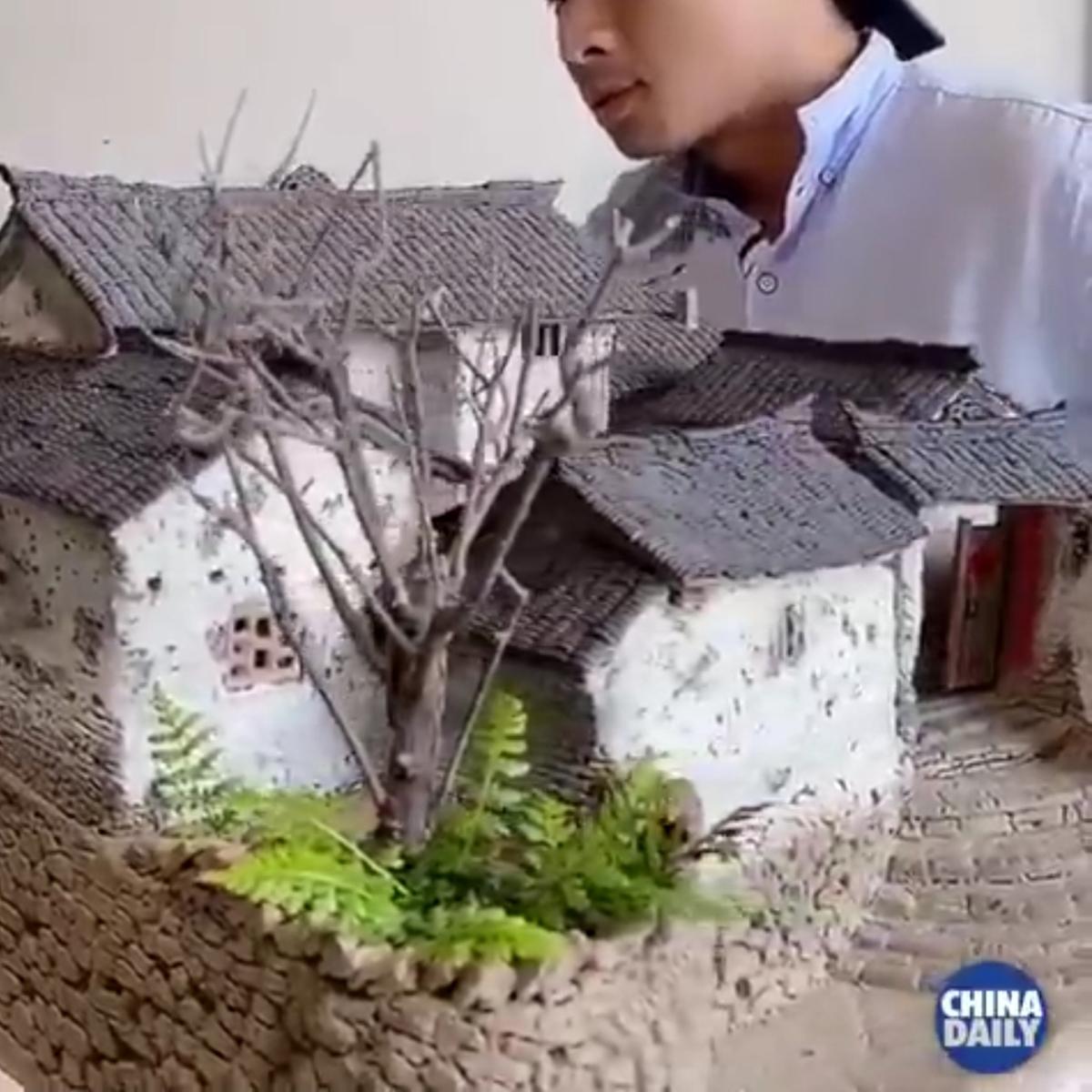 هنر ساخت ماکت خانه های گلی