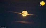 ماه شبیه زحل شد!