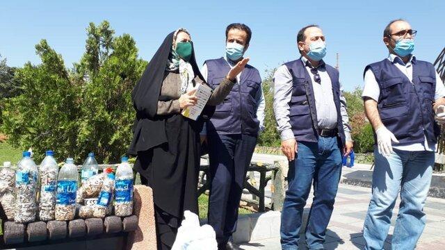 خیابان ولی عصر تهران امروز از ته سیگار پاکسازی شد.
