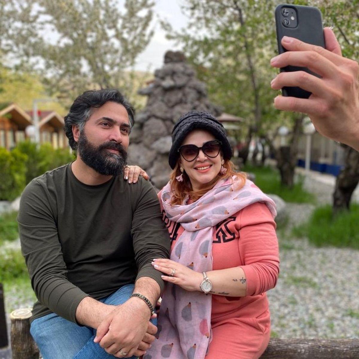 عکس جدید بهاره رهنما و همسرش