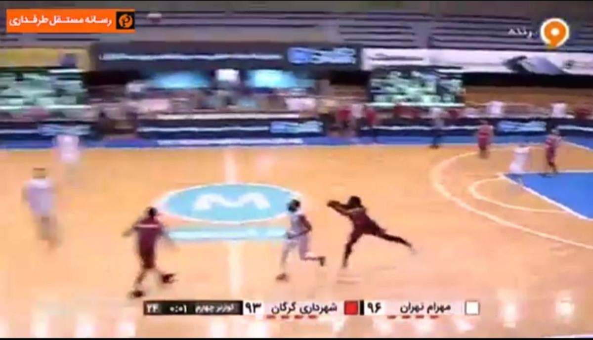 معجزه آمریکایی در یکصدم ثانیهاز فینال بسکتبال ایران + ویدئو
