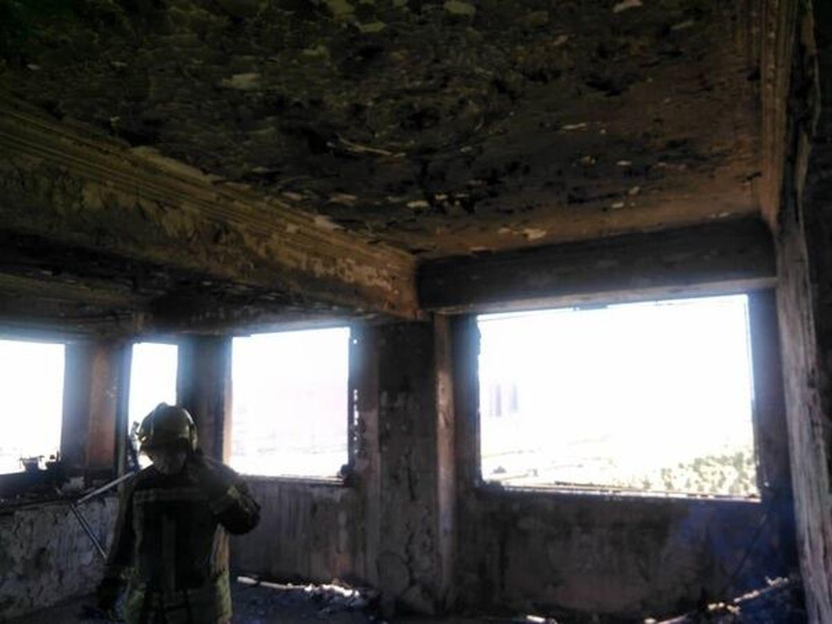 آتشسوزی در برج ۱۰ طبقه با تلاش آتش نشانان مهار شد