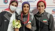 نخستین مدال جهانی تاریخ سنگنوردی زنان ایران   الناز رکابی برنز گرفت