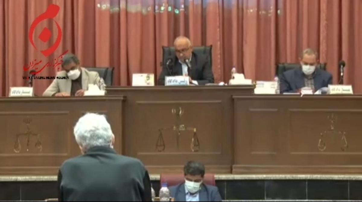 یک بخش از دادگاه امروز حسن رعیت + ویدئو