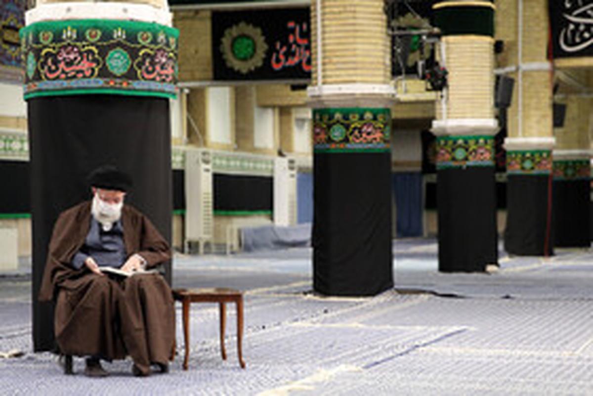 مراسم عزاداری اربعین با حضور رهبر انقلاب در حسینیه امام خمینی