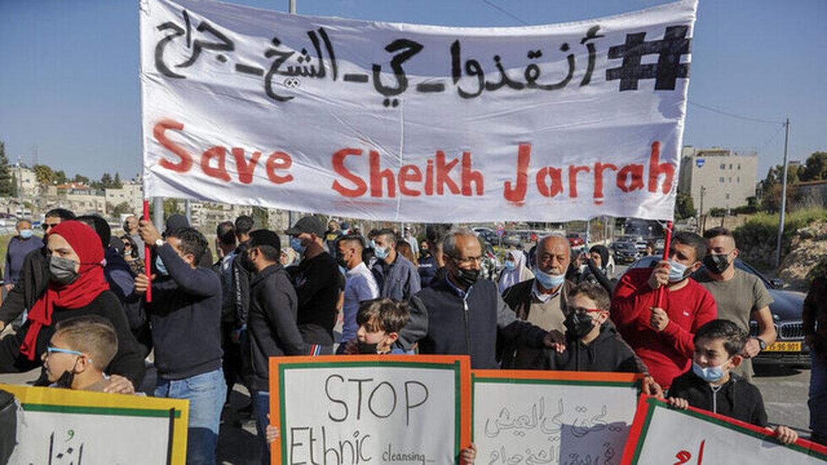 پلیس اشغالگر به زور تظاهرات علیه بسته شدن محله الشیخ جراح متفرق کرد