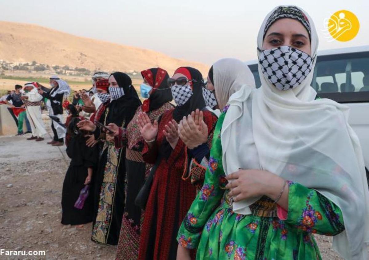 زنان فلسطینی با لباسهای سنتی +عکس