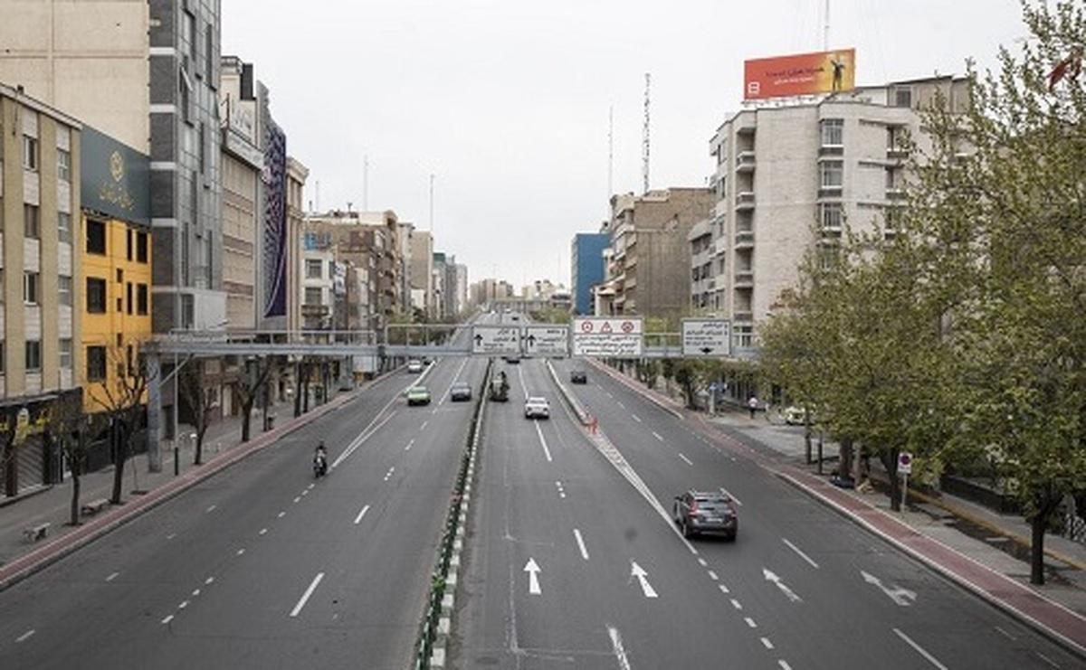 تهران خلوت در نخستین روز سال جدید+ عکس| خلوت و سکوت خیابان های تهران در نخستین روز بهار