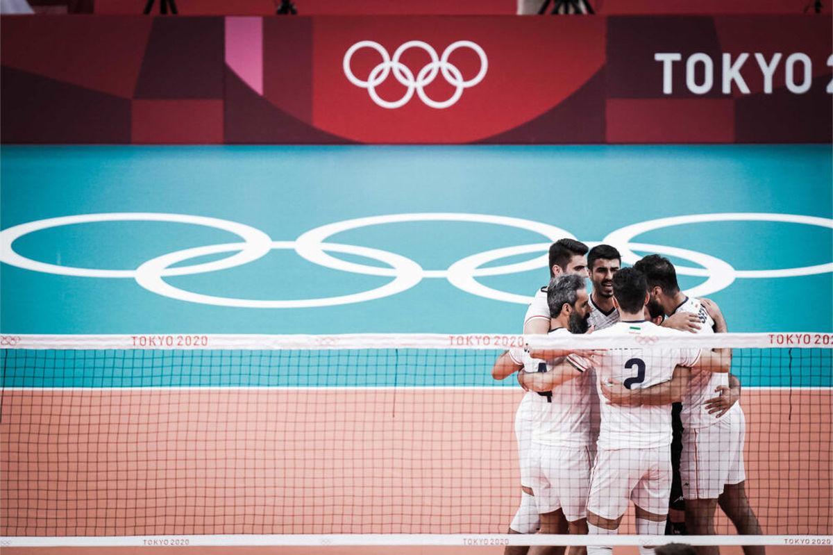 والیبال ایران در رده سوم گروه اول المپیک توکیو قرار گرفت