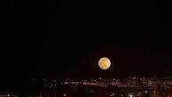 تصاویری حیرت انگیز از پدیده ابرماه در تهران| ابرماه زیبا را ببینید+عکس