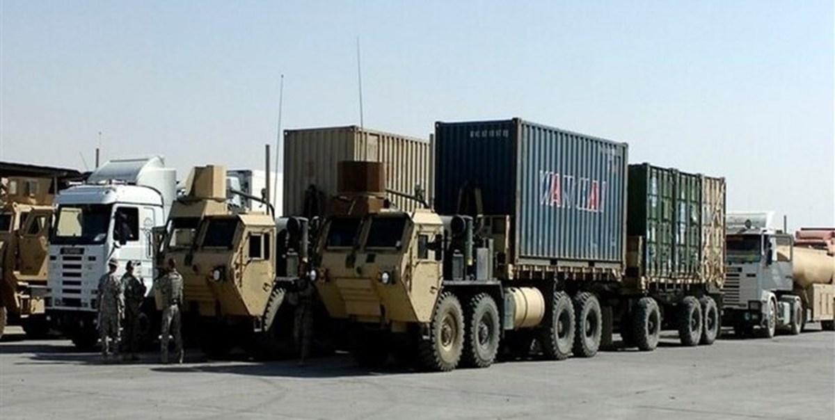 عراق     سومین کاروان نظامی لجستیک نظامیان آمریکایی هدف قرار گرفت