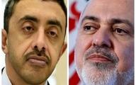 تماس تلفنی وزیر خارجه امارات با ظریف بعد از چند سال