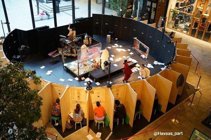 یه گروه تئاتر ژاپنی یک روش جالب برای تماشاگراش ارائه داده.