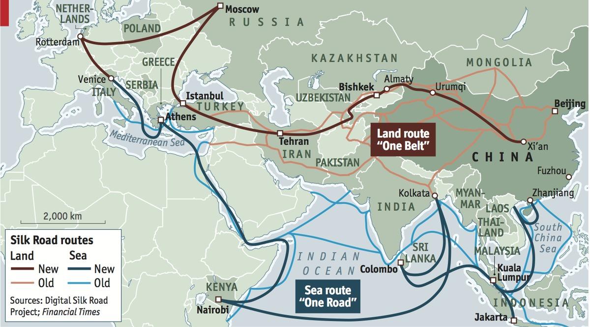«شبکه نقطه های آبی» غرب در مقابل ابتکار «یک کمربند و یک جاده» چین؛ تفاوت در چیست؟