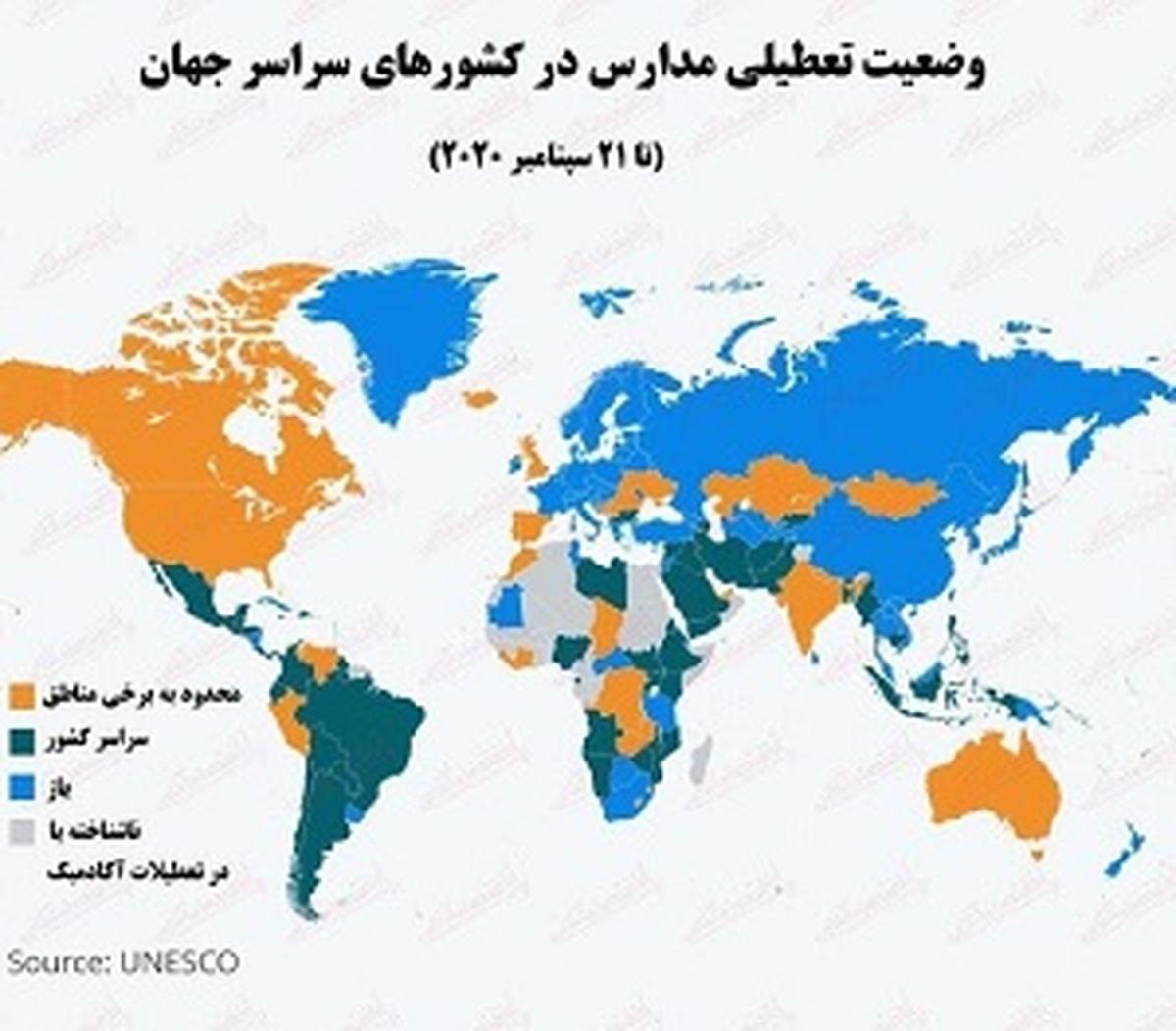 کرونا   |   ۱.۶میلیارد دانشآموز،در سراسر جهان در کلاسهای حضوری شرکت نکردند.