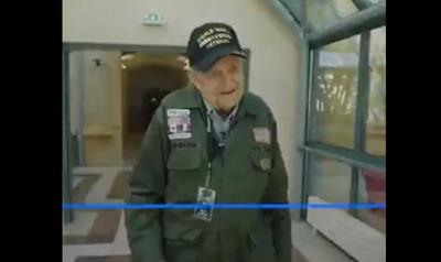 ویدیو: دیدار یک کهنه سرباز با معشوق خود پس از ۷۵ سال